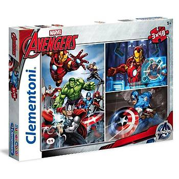 Clementoni Çocuk Puzzle 3X48 Parça Avengers