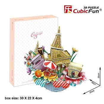 Cubic Fun 3D 74 Parça Puzzle Paris Þehir Kompozisyonu