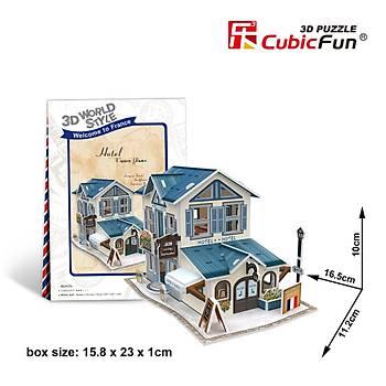 Cubic Fun 3D 32 Parça Puzzle Fransýz Hoteli