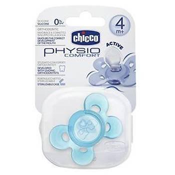 6Chicco Comfort Silikon Kelebek Emzik 4+ ay  - Mavi