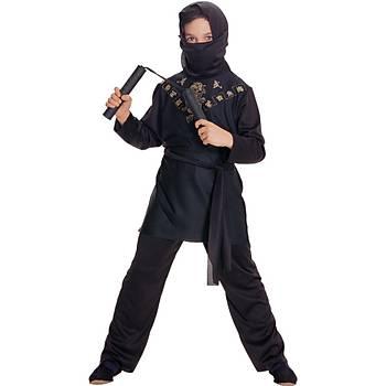 Siyah Ninja Çocuk Kostümü 3-4 Yaþ