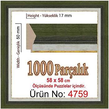 Heidi 1000 Parçalýk Kare Puzzle Çerçevesi 58 x 58 cm 4759