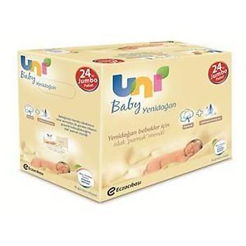 Uni Baby Yenidoðan Islak Pamuk Mendil 24lü Fýrsat Paketi / 960 Yaprak
