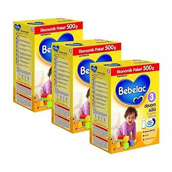Bebelac Devam Sütü 3 Numara 500 gr 3 Lü Paket