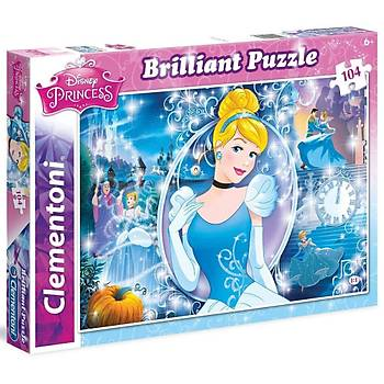 Clementoni Brilliant Cinderella 104 Parça Çocuk Puzzle