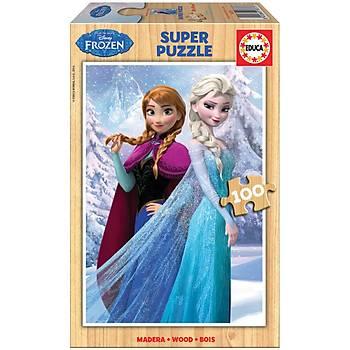 Educa Çocuk Puzzle Ahþap 100 Frozen