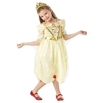 Prenses Belle Çocuk Kostüm Sparkle 7-8 Yaþ