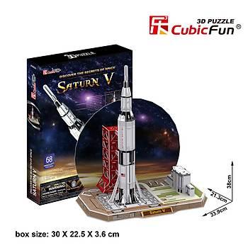 Cubic Fun 3D 68 Parça Puzzle Saturn V Rocket