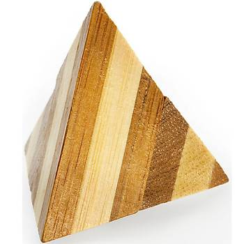 Eureka Bamboo Puzzle Pyramid 3D Puzzle