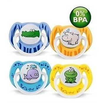 Avent 0% BPA Yalanci Emzik 0-6 ay Desenli 2li