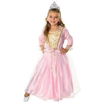 Rose Prenses Çocuk Kostüm Klasik 3-4 Yaþ