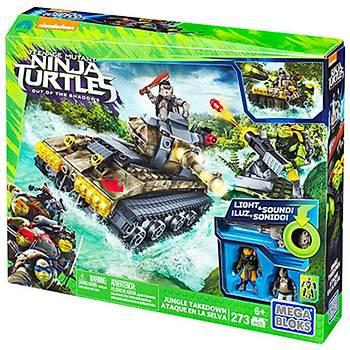 Mega Bloks Ninja Kaplumbaðalar Jungle Battle Scene Oyun Seti