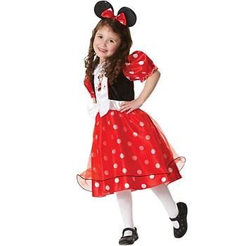 Minnie Mouse Lüks Çocuk Kostümü 7-8 Yaþ