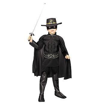 Zorro Çocuk Kostüm Lüks 8-10 Yaþ