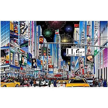 Pintoo 1000 Parça Puzzle New York, Time Meydaný