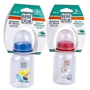 Bebedor Desenli PP Biberon 125 ml ( No:3 Biberon Emziði Hediyeli)