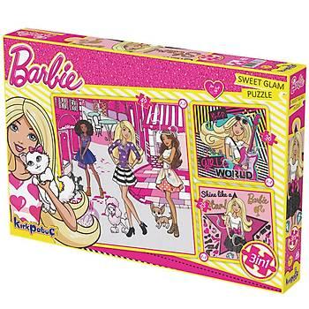 Kýrkpapuç Barbie Sweet Glam Çocuk Puzzle