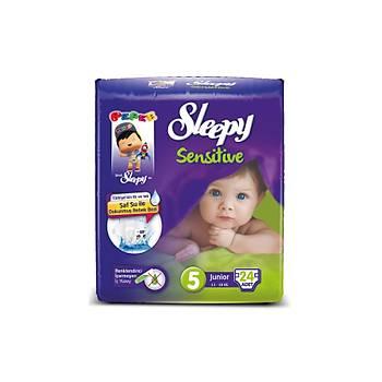 Sleepy Sensitive Pepee Junior 5 Numara  24 Adet
