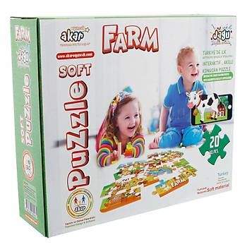 Akar Jagu 20 Parça Konuþan Yumuþak Puzzle Çiftlik