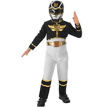 Power Rangers Siyah Çocuk Kostümü  3-4 Yaþ