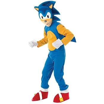 Sonic Çocuk Kostüm 3-4 Yaþ Lüks