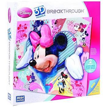 Mega Puzzles 250 Parça 3D Puzzle Breakthrough Minnie Mouse