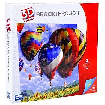 Mega Puzzles 200 Parça 3D Puzzle Breakthrough Balonlar
