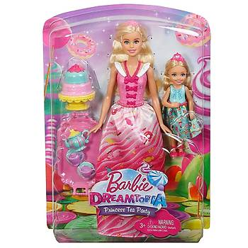 Barbie Dreamtopia Barbie ve Chelsea'nin Çay Partisi FDJ19