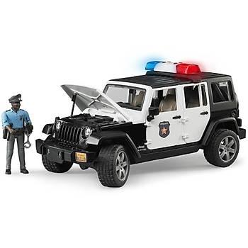 Bruder Jeep Wrangler U.R. Polis Aracý ve Koyu Renk Memur