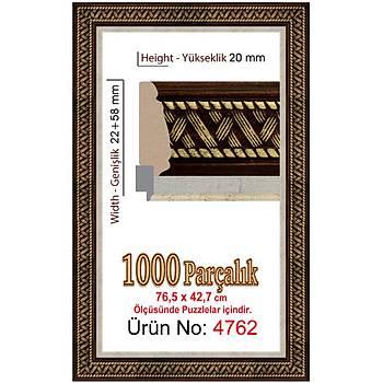 Heidi 1000 Parçalýk Özel Panorama Puzzle Çerçevesi 76,5 x 42,7 cm