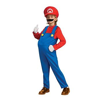 Mr. Mario Kostüm Lüks 8-10 Yaþ