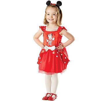 Minnie Kýrmýzý Balerin Çocuk Kostüm 3-4 Yaþ