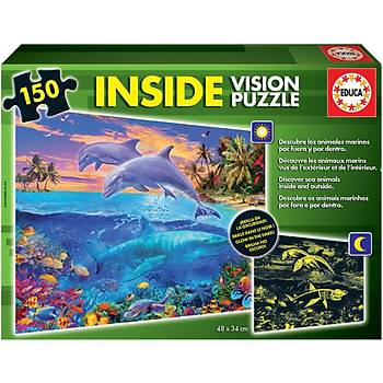 Educa Çocuk Puzzle 150 Neon Underwater World