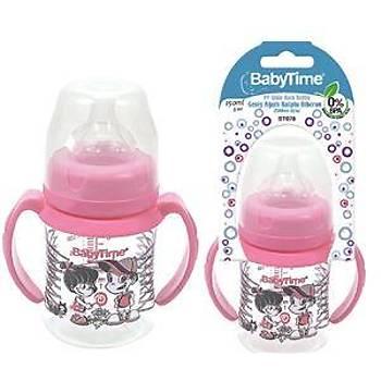 Baby Time Silikon Uçlu Geniþ Aðýz Kulplu Biberon - 150ml