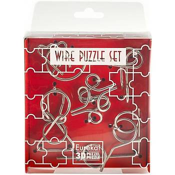 Eureka Wire Puzzle Set-Red 3D Puzzle