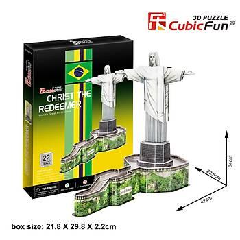 Cubic Fun 3D 22 Parça Puzzle Kurtarýcý  Ýsa Heykeli - Brezilya