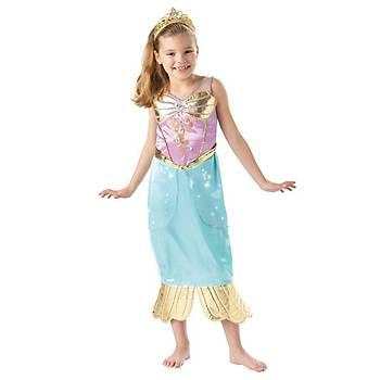 Deniz Kýzý Prenses Ariel Sparkle Çocuk Kostüm 3-4 Yaþ