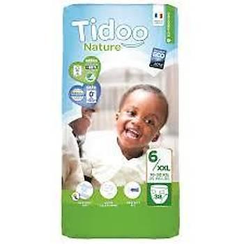 Tidoo Antialerjik-Ekolojik Bebek Bezi No:6 Jumbo XL 16-30 Kg 38 Adet