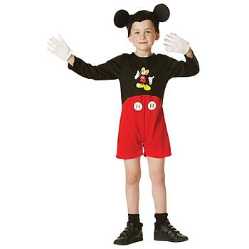 Mickey Mouse Klasik Çocuk Kostüm 5-6 Yaþ