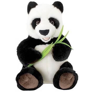 Animals Of The World Oturan Bambulu Panda Peluþ Oyuncak 30 cm