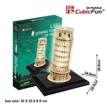 Cubic Fun 3D 15 Parça Led Puzzle Pisa Kulesi - Ýtalya (Led Iþýklý