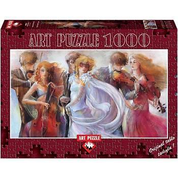 Art Puzzle 1000 Parça Puzzle Panorama Maskeli Balo
