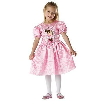 Minnie Pembe Klasik Çocuk Kostüm 7-8 Yaþ