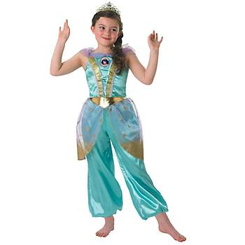 Prenses Jasmine Çocuk Kostüm 7-8 Yaþ Glitter