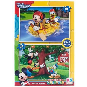 KS Puzzle 2 Ýn 1 Çocuk Puzzle Mickey Mouse