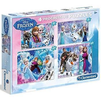 Clementoni Disney Frozen 4'lü Çocuk Puzzle