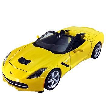 Maisto 2014 Corvette 1:24 Model Araba S/E Sarý