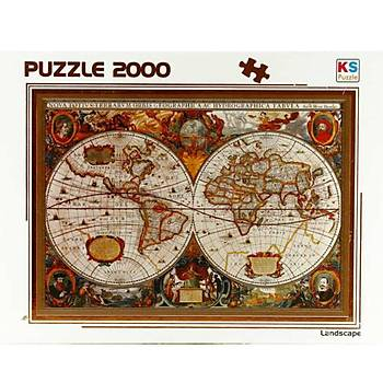 Ks Puzzle 17Th Century World Map 2000 Parça Puzzle