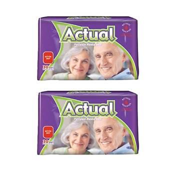 Actual Yetiþkin Hasta Bezi Large 60 Adet 2 Li Paket