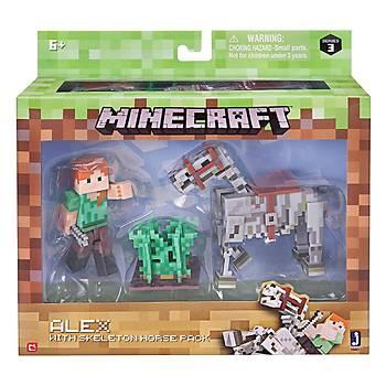 Minecraft Alex ve Ýskelet Atý